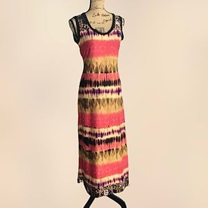 Sunny Leigh Stretchy Knit Sleeveless Long Dress